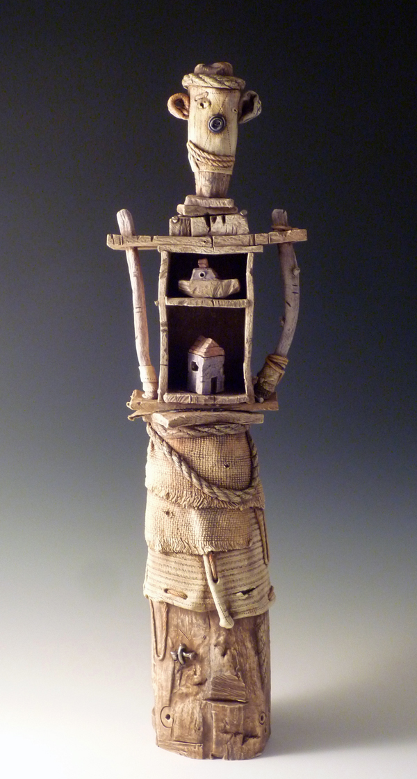 Keith Schneider, The Collector, porcelain, ceramic, figurative, Sherrie Gallerie