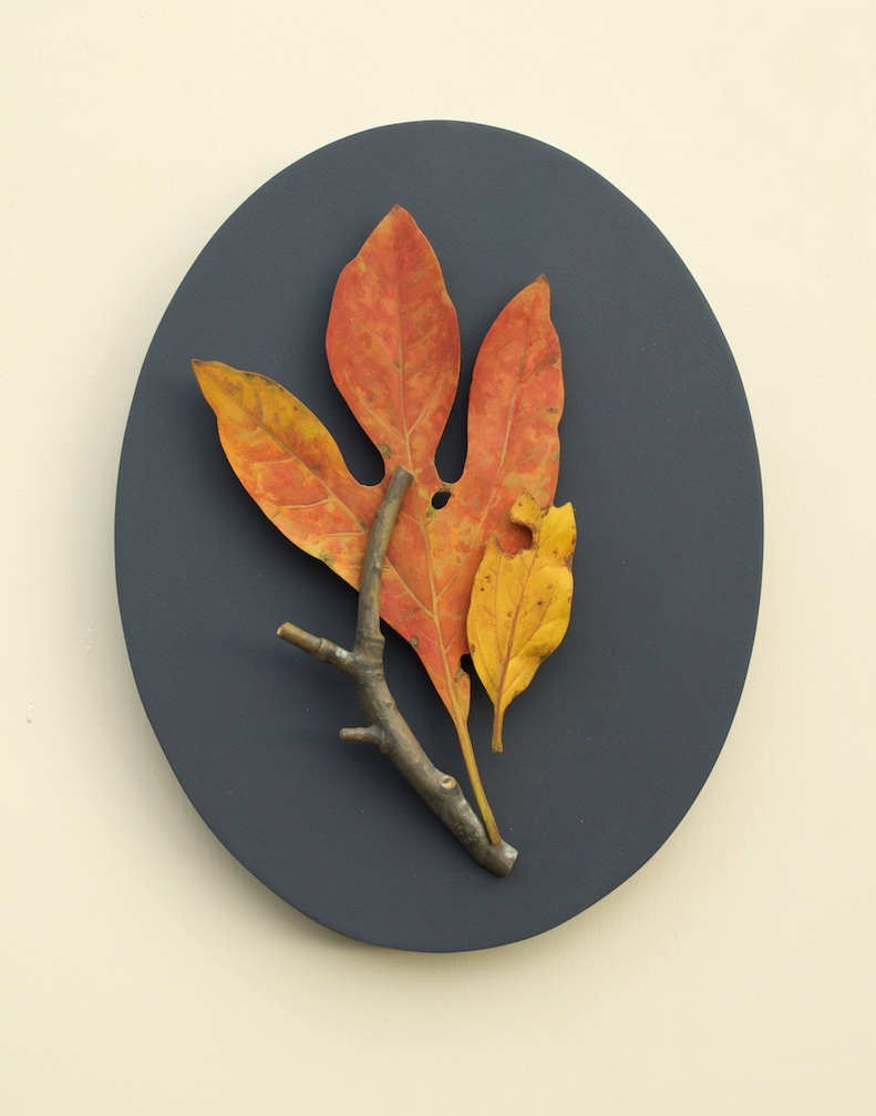 Ron Isaacs, Sassafras, acrylic paint on birch plywood, sculpture, painting, art jewelry, still life, Sherrie Gallerie