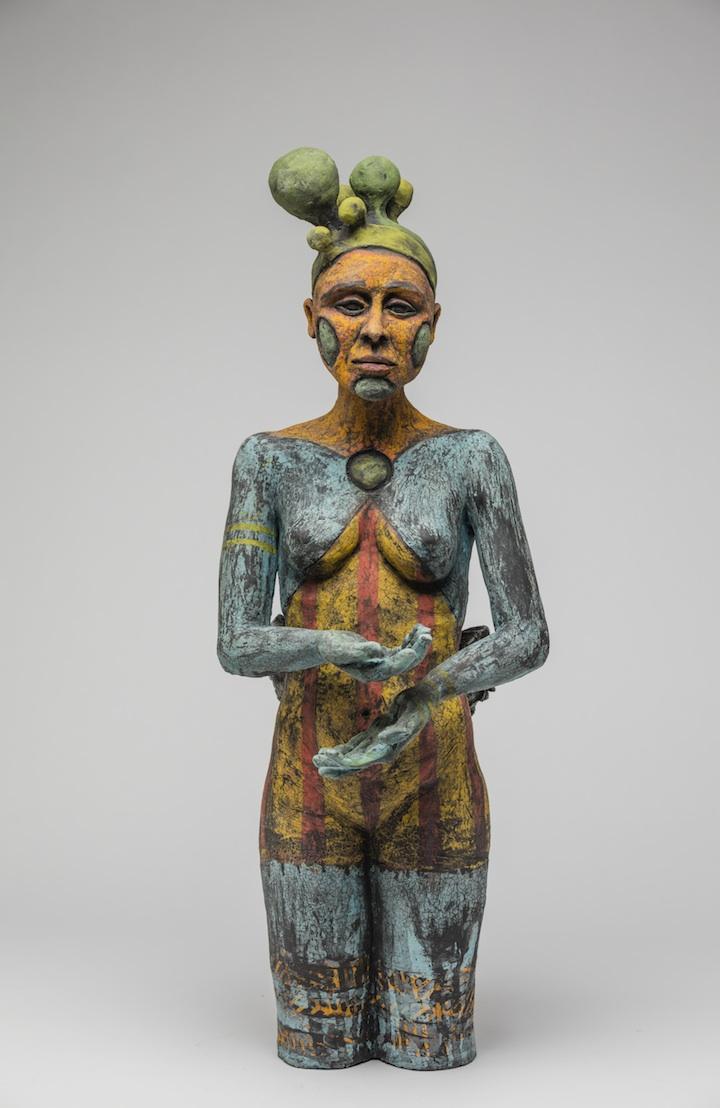Julie Woodrow, Performer, ceramic, figurative, Sherrie Gallerie
