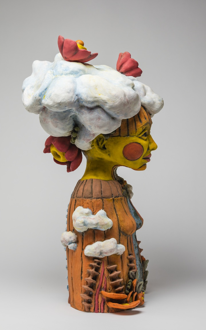 Julie Woodrow, Cloud Splitter, ceramic, figurative, Sherrie Gallerie