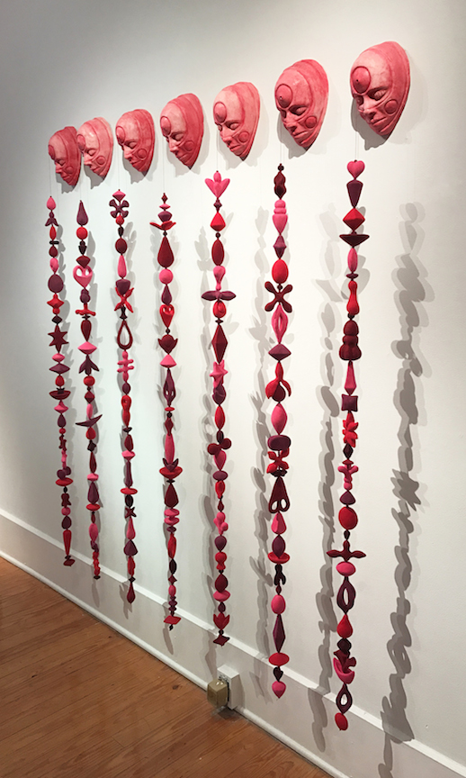 Julie Woodrow, Persistence, ceramic, figurative, installation, Sherrie Gallerie