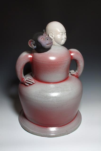 Joe Bova, Ninety Eight Point Seven Percent, ceramic sculpture, Sherrie Gallerie