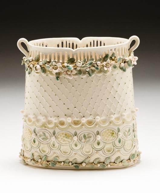 Claire Prenton, Blossom Vase, porcelain, ceramic, vessel, Sherrie Gallerie