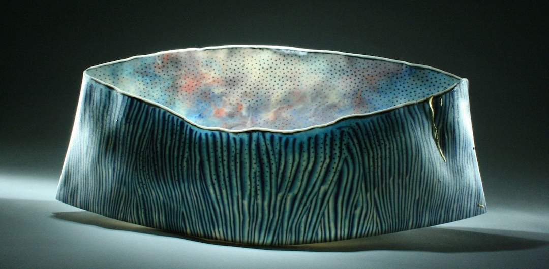 """Curtis Benzle, """"Vieques,"""" porcelain, 16x7x5 in, $4500"""