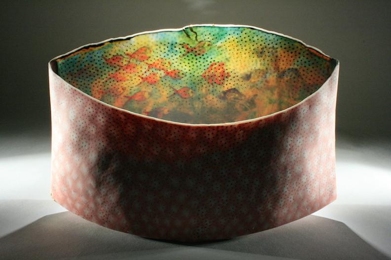 "Curtis Benzle, ""Mundo Durado,"" porcelain, 12x7x3.5 in, $3200"