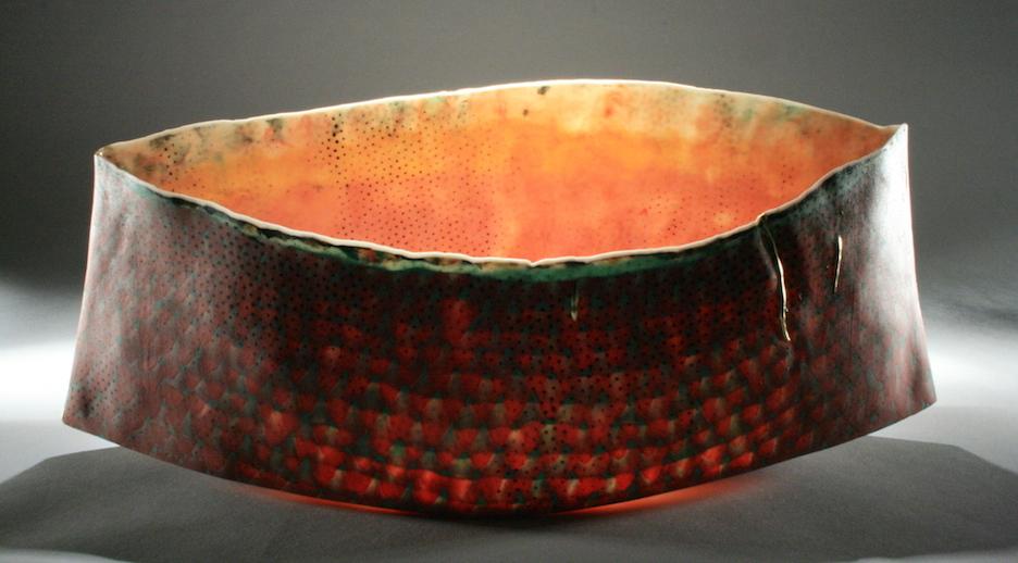 "Curtis Benzle,""Alhambra Luz,"" porcelain, 16x7x5 in, $4250"