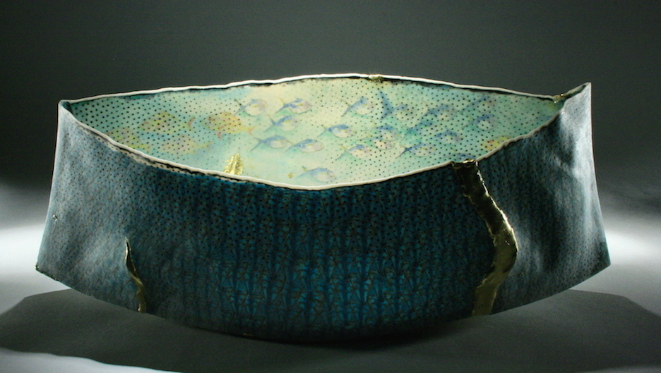 "Curtis Benzle, ""Regresar,"" porcelain, 16x7x5 in, $4750"