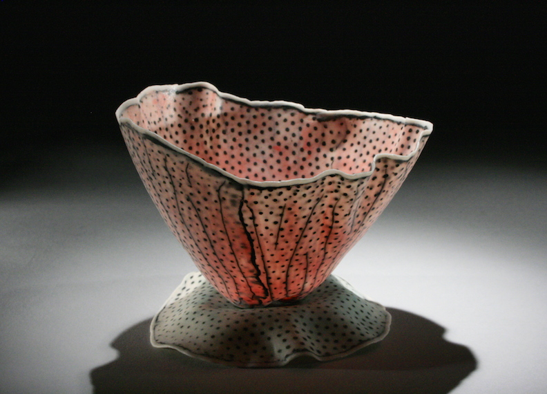 """Curtis Benzle,""""Floral 7,"""" porcelain, 4x4.5x4.5 in, $450"""