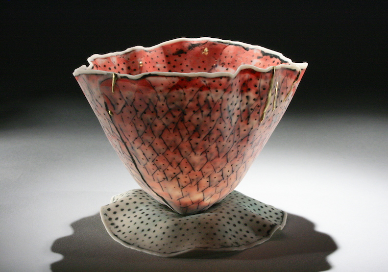 """Curtis Benzle,""""Floral 3,"""" porcelain, 4x4.5x4.5 in, $450"""
