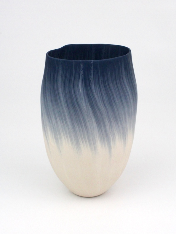 "Thomas Hoadley, ""Bowl 1107,"" colored porcelain, 8.75x5.25x5 in, $1800"