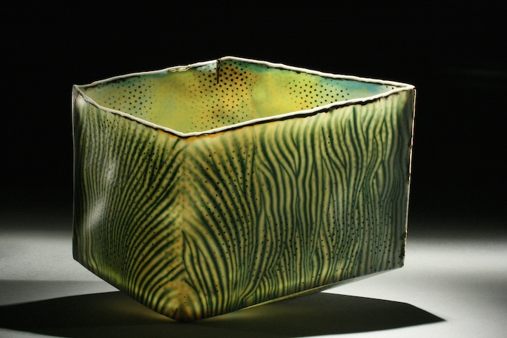 "Curtis Benzle, ""Selva,"" porcelain, 6.5x9x4.5 in, SOLD"