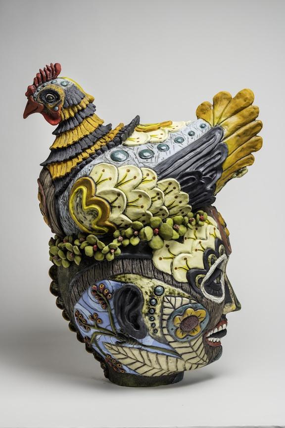 Julie Woodrow, Toca Madera, ceramic, figurative, Sherrie Gallerie