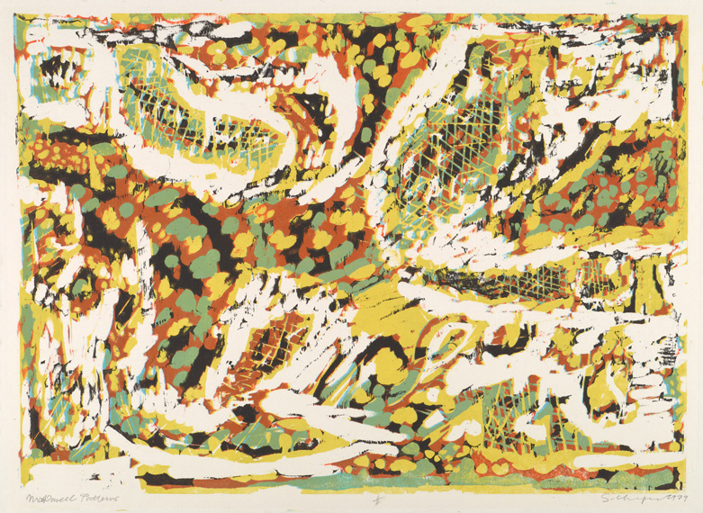 Sid Chafetz, MacDowell Patterns, woodcut, printmaking, abstract, Sherrie Gallerie