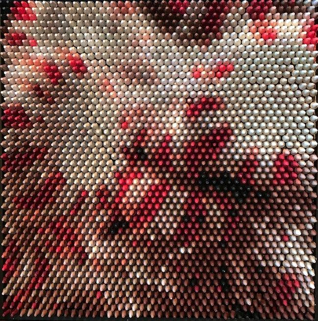 Christian Faur confection peppermint crayon pointillism portrait candy still life landscape Sherrie Gallerie