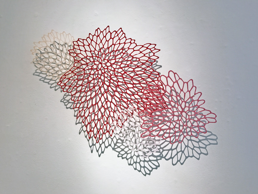 "Lauren Eastman Fowler, ""Fiorire 4,"" glass, 21x31x2.5 in"