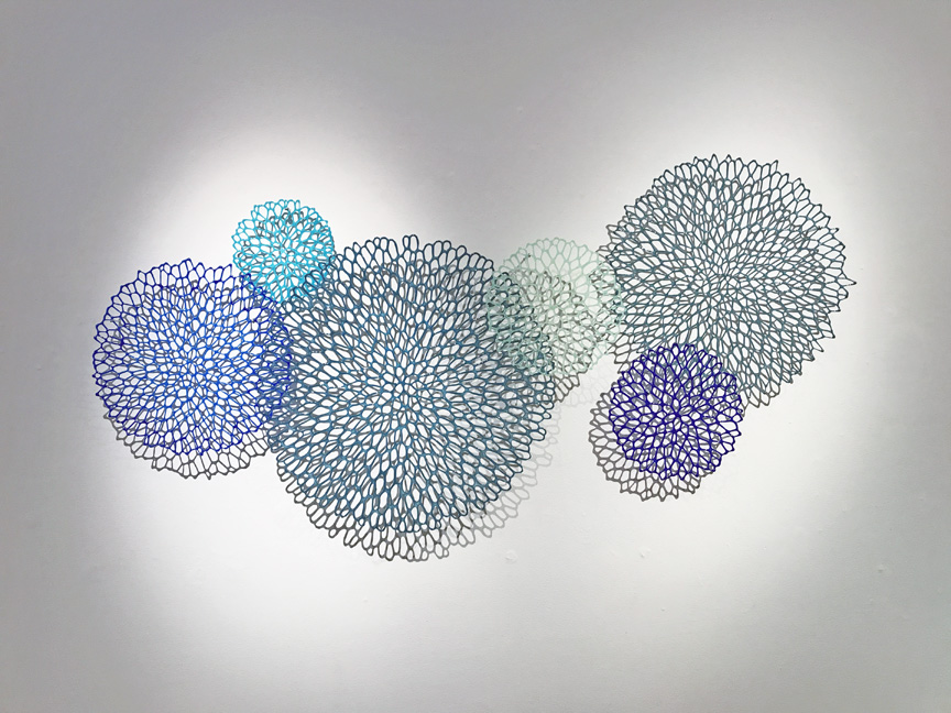 "Lauren Eastman Fowler, ""Flore Orbis 6,"" glass, 32x62x2.5 in"
