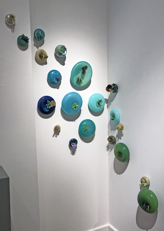 "Molly Burke, ""Succulent Installation,"" glass, pieces available individually"