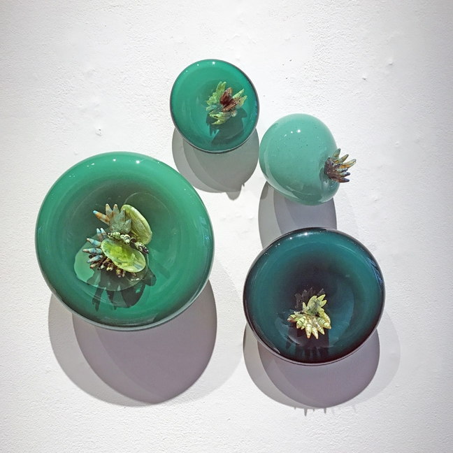 "Molly Burke, ""Persist, Emerald,"" glass"