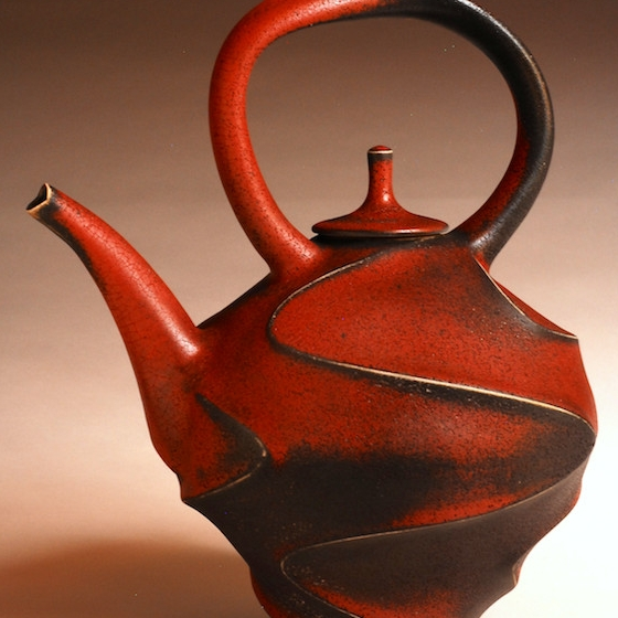 Jim Connell, Teapot, stoneware, ceramic, functional, pottery, Sherrie Gallerie