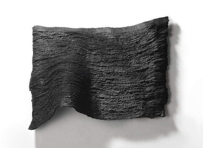 Yong Joo Kim Wall Piece Installation Black velcro hook and loop fastener painting sculpture texture organic abstract Sherrie Gallerie