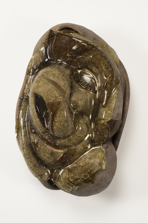 Hunter Stamps ceramic clay sculpture statue abstract art glass wall piece natural neutral sophisticated contemporary Sherrie Gallerie Short North Art Gallery Columbus Ohio
