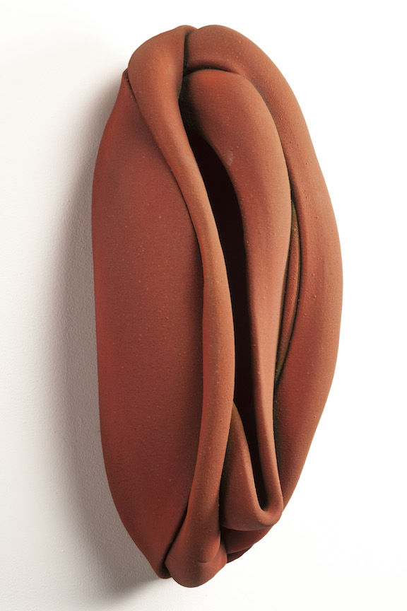 Hunter Stamps ceramic clay sculpture statue abstract art wall piece natural neutral sophisticated contemporary Sherrie Gallerie Short North Art Gallery Columbus Ohio