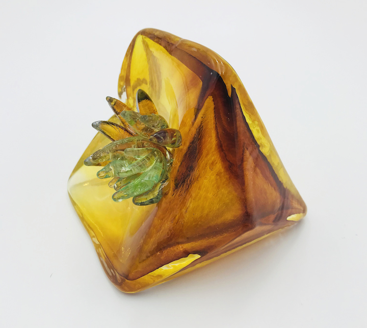 Molly Burke blown glass succulent cactus gem geometric gemstone diamond wall installation paperweight vase Sherrie Gallerie Short North Art Gallery Columbus Ohio