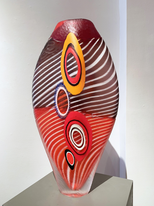 Mattia and Marco Salvadore evviva blown and carved glass vessel vase venetian italian murano glassblowing cane murrine murrini sculpture contemporary art Sherrie Gallerie Short North Art Gallery Columbus Ohio