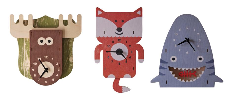 Birch Wood 3D Clocks