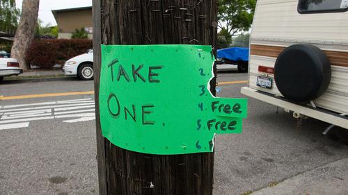 Take One -- Free -- by Joe Reifer