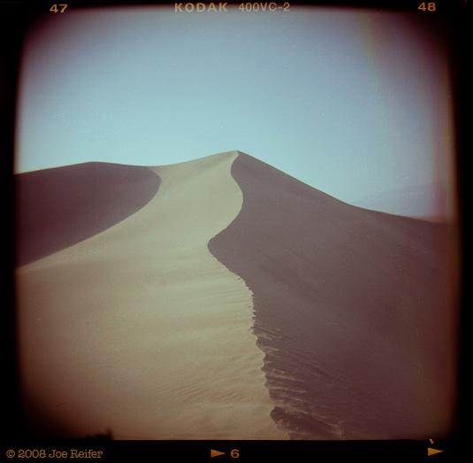Death Valley dune sunset -- by Joe Reifer