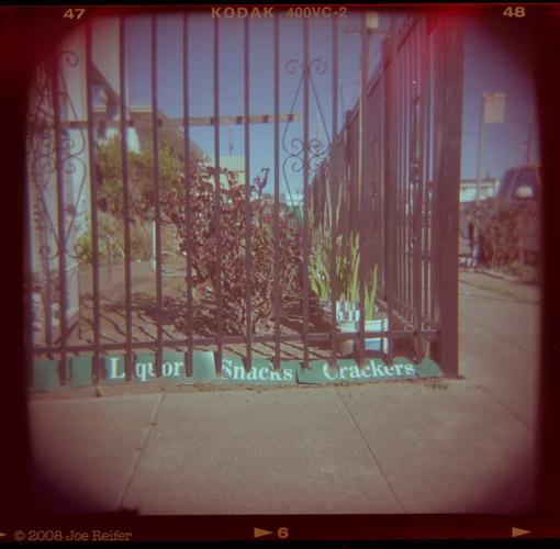 Garden (Liquor, Snacks, Crackers) -- by Joe Reifer