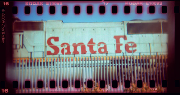 Santa Fe (cross-processed 35mm sprocket Holga) -- by Joe Reifer
