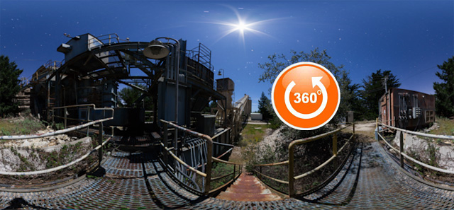 Abandoned Cement Plant 360 Night Tour 2