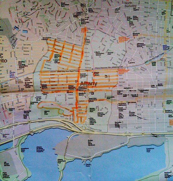 Walking Albany Map