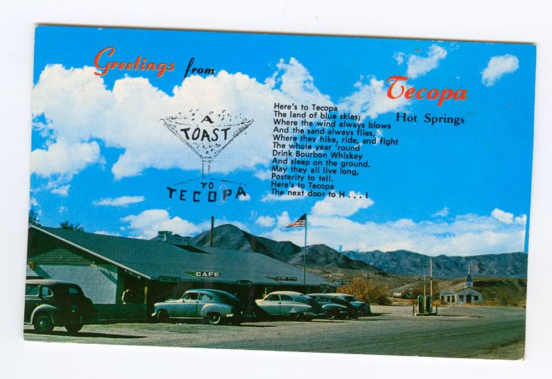 Toast to Tecopa Postcard -- front