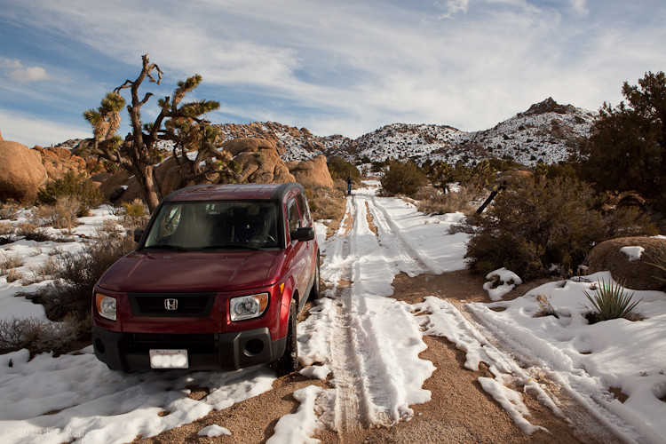 Honda Element off-roading in the snow -- by Joe Reifer