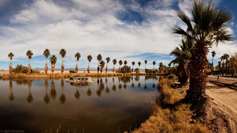 Lake Tuendae at Zzyzx -- by Joe Reifer