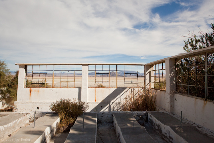 Zzyzx pool area -- by Joe Reifer