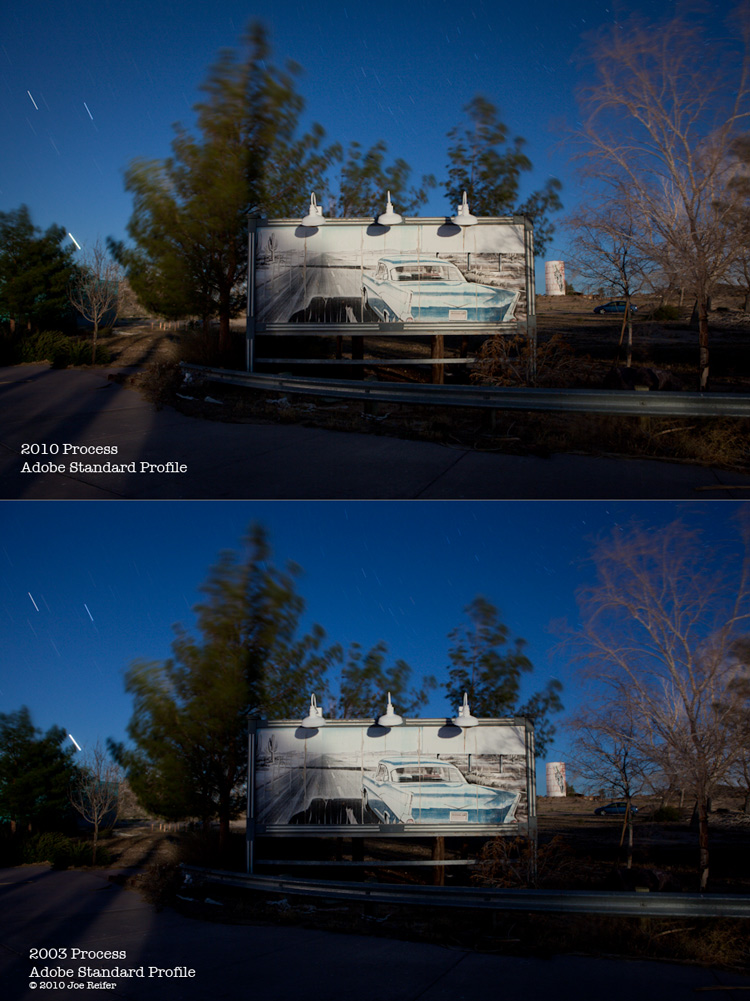 Lightroom 3 2010 Process Engine comparison -- by Joe Reifer
