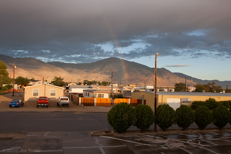 Sunrise with rainbow: Hawthorne, Nevada -- by Joe Reifer