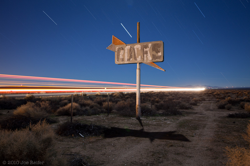 Cafe/Rocks (Mojave Desert 2010) -- by Joe Reifer