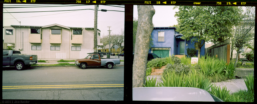 Berkeley diptych: Cars, trucks, and your future -- by Joe Reifer