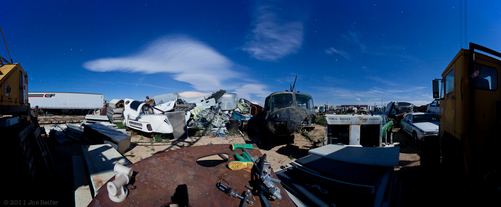 Paul's Junkyard Panorama -- by Joe Reifer