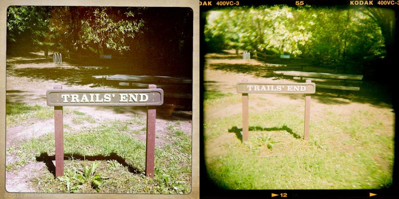 Holga vs Hipstamatic: Trail's End -- by Joe Reifer