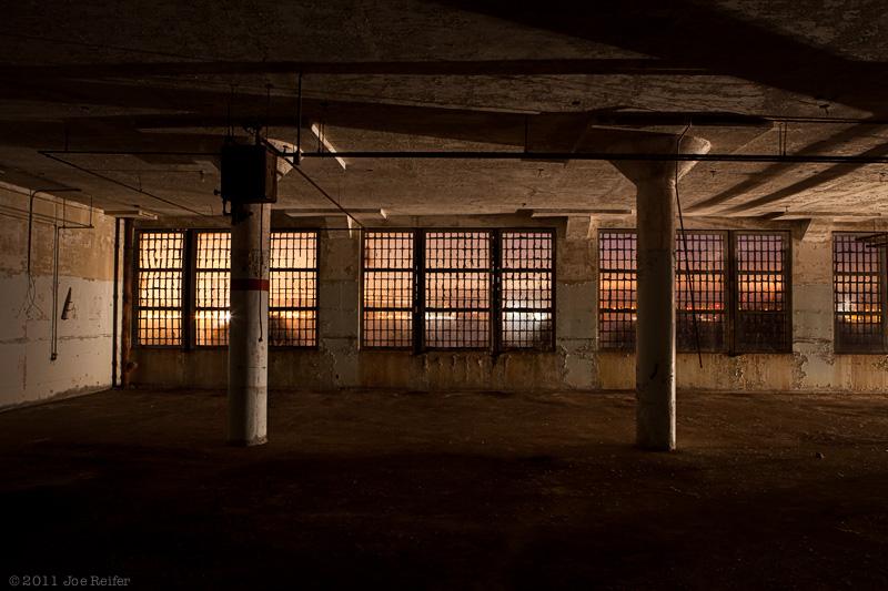 Alcatraz at night: Inside the new Industries building -- by Joe Reifer