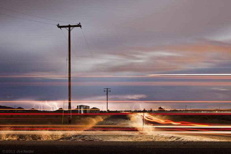 Mojave Desert lightning storm -- by Joe Reifer