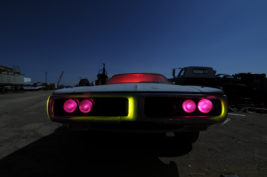 Grill experiment - Dodge Charger light painting - by Michael Bertrand
