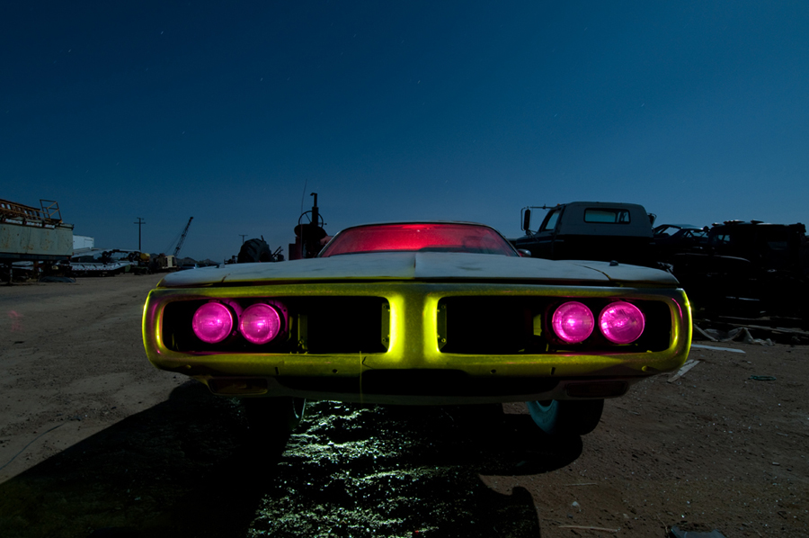 Final shot - Dodge Charger light painting - by Michael Bertrand