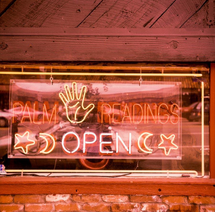 Palm Readings Open -- by Joe Reifer
